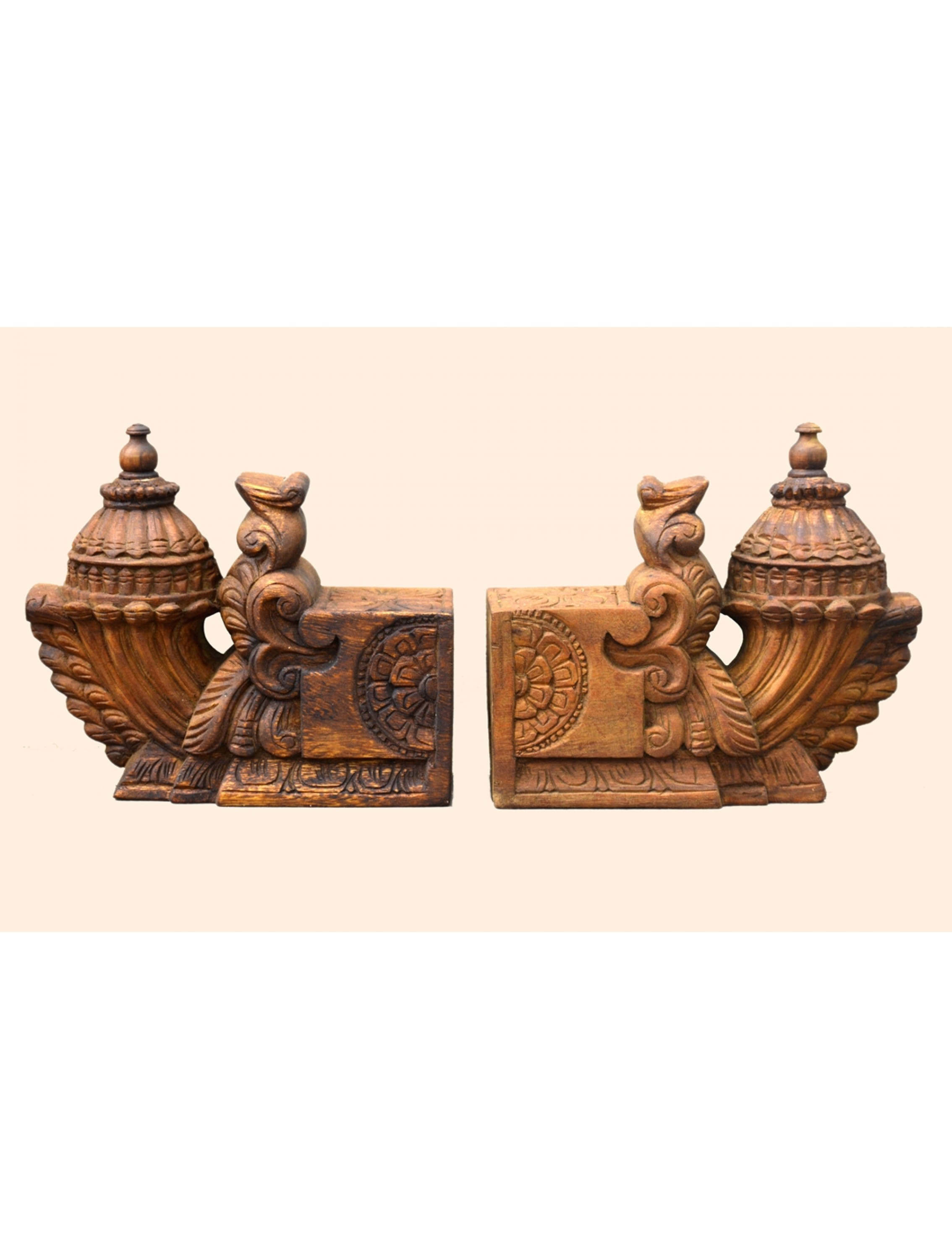 Wooden Special Bhodhil Wall Brackets(Pair)